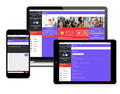 visuel application multi-support (mobile, PC, tablette)